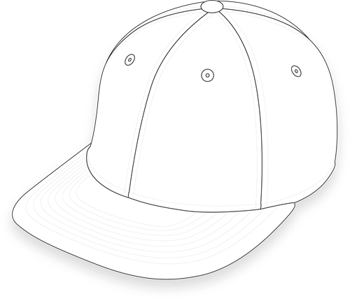 Pukka simple hat outline
